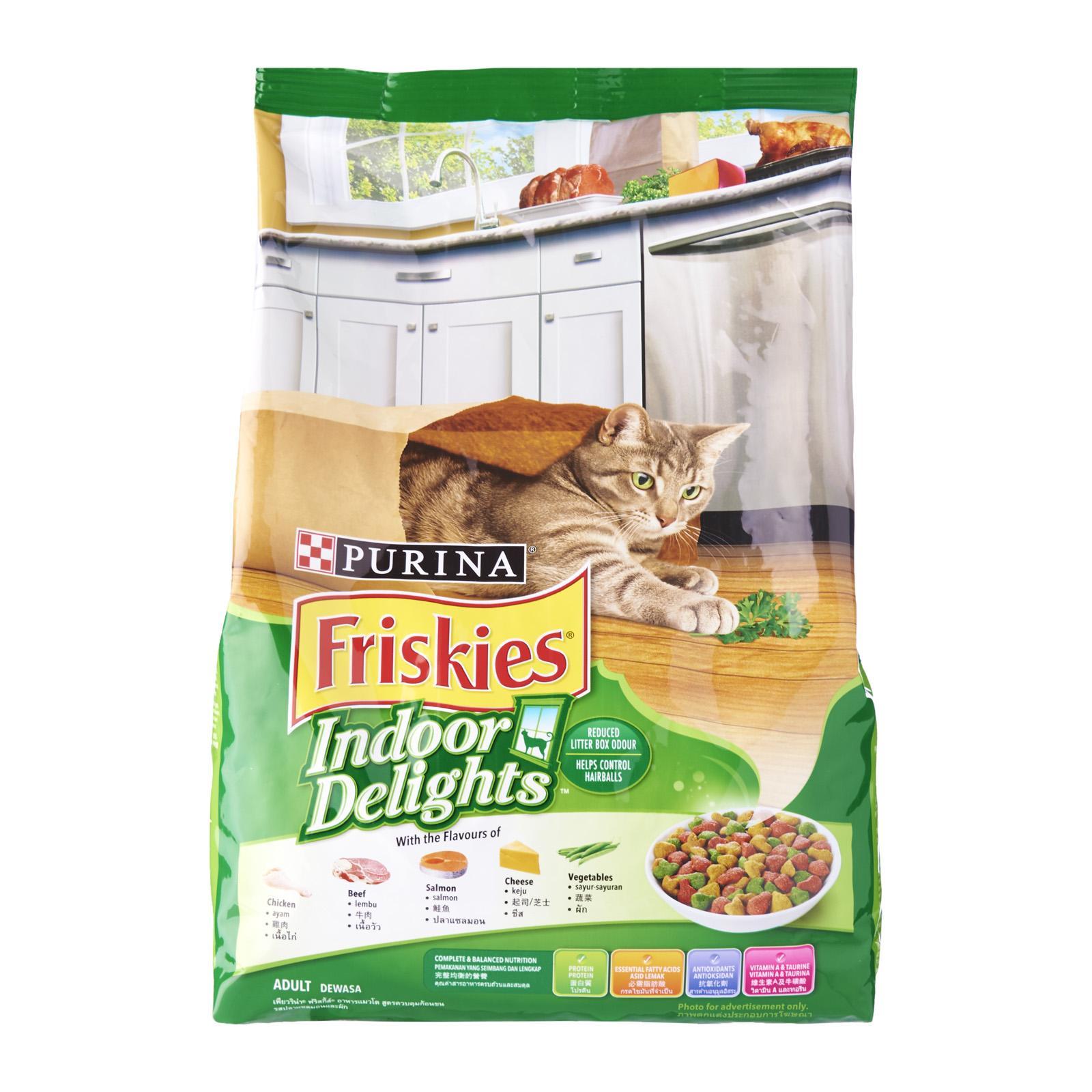 Friskies Delish Cat Dry Food - Indoor Delights