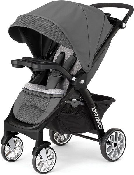 Chicco Bravo LE Quick-Fold Newborn Infant Baby Child Children Kids Stroller, Coal Singapore