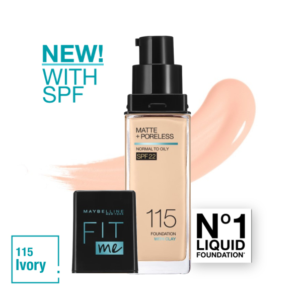 Buy Maybelline Fit Me Matte+Poreless Foundation with Pump (Upgraded with SPF22) Singapore