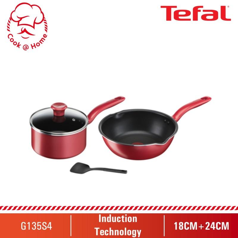 Tefal So Chef 4pcs Set (DFP24+SP18 w/lid+Spatula) G135S4 Singapore