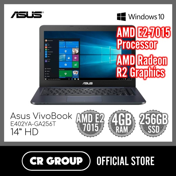 [Same Day Delivery] Asus VivoBook E402YA 14 Inch HD | AMD E2-7015 | 4GB RAM | 256GB SSD | AMD Radeon R2 Graphics