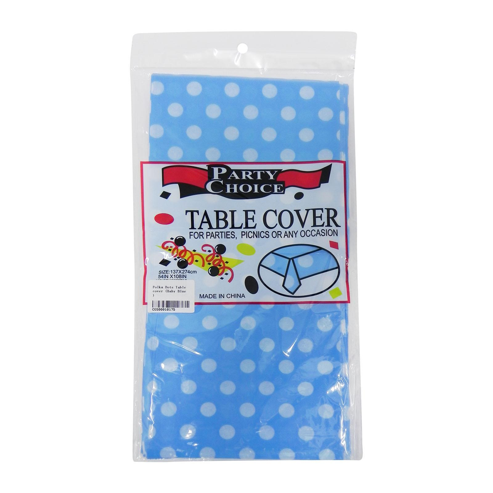 CGS Polka Dots Tablecover (Baby Blue)