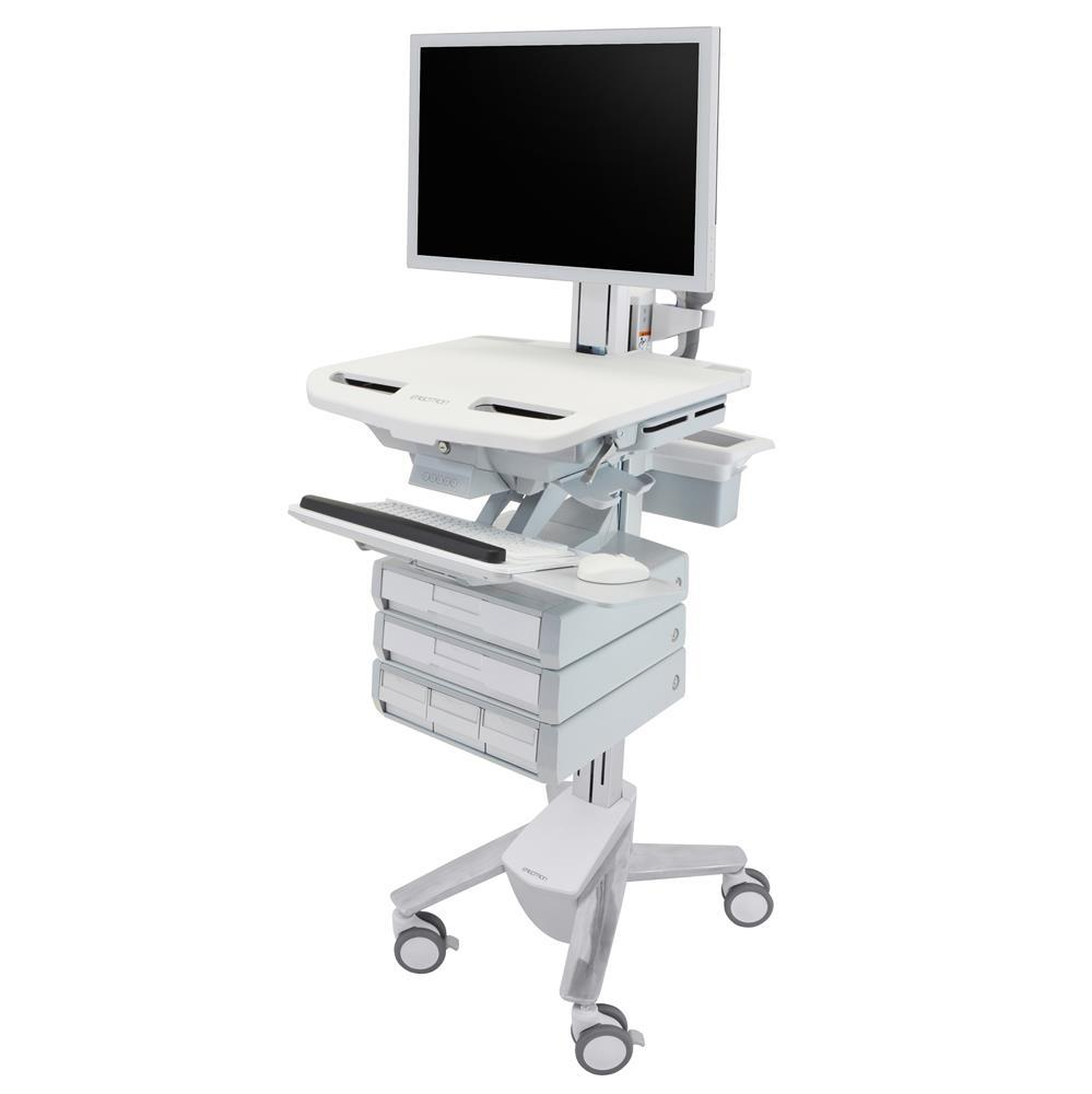 Ergotron StyleView Medication Cart with HD Pivot, 5 Drawers