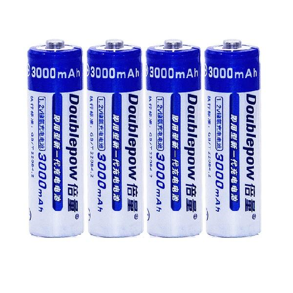 Doublepow 3000mAh Ni-MH Rechargeable AA Battery (8 Pieces)