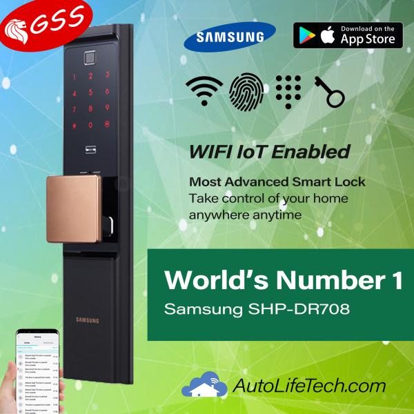 FREE INSTALLATION Samsung SHP-DR708 MOBILE APP ~ Digital Lock Iot Wifi Smart Lock