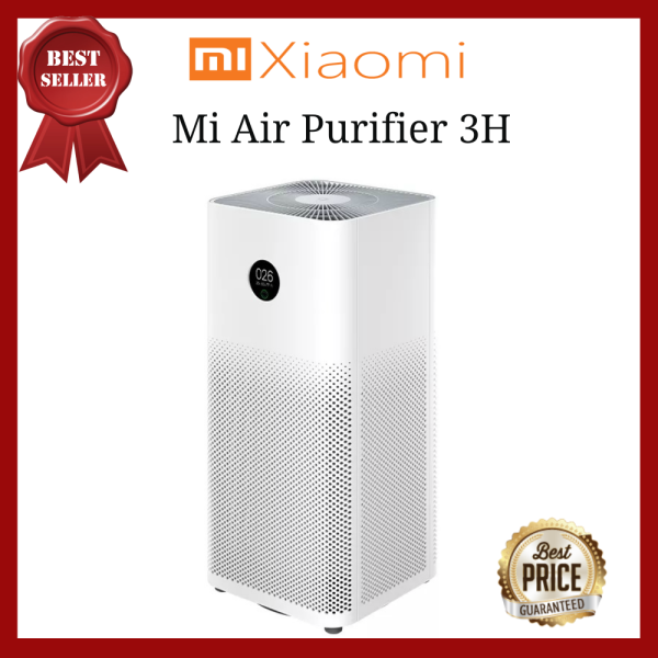 Global Version Xiaomi Mi Home Air Purifier 3H - OLED Touch Display, High Precision Laser Particle Sensor Better performance and lower noise (Singapore Plug) Singapore