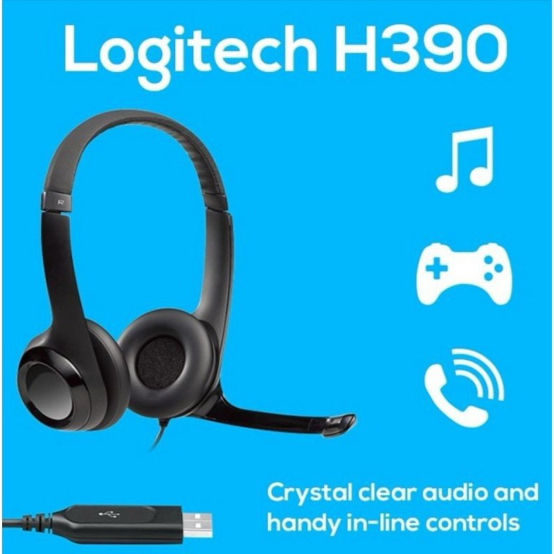 Logitech H390 USB Wired Headset With Inline Audio Singapore