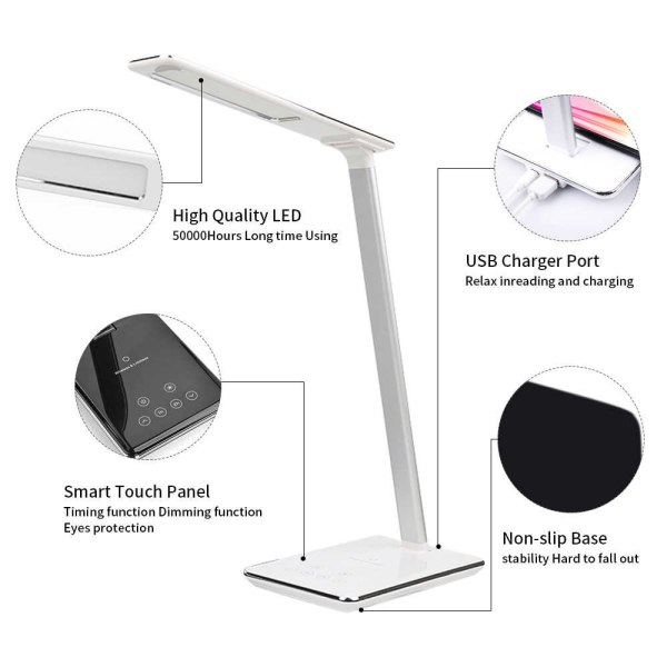 LED Desk-lamp with wireless phone charger