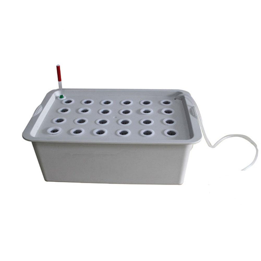 XE 24 Holes Site Hydroponic Box Kit for Planters Seedling Vegetables Growing