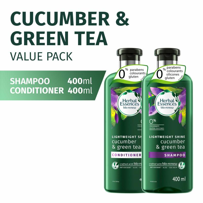 Buy Herbal Essences Cucumber and Green Tea 400ml Shampoo and Conditioner Singapore