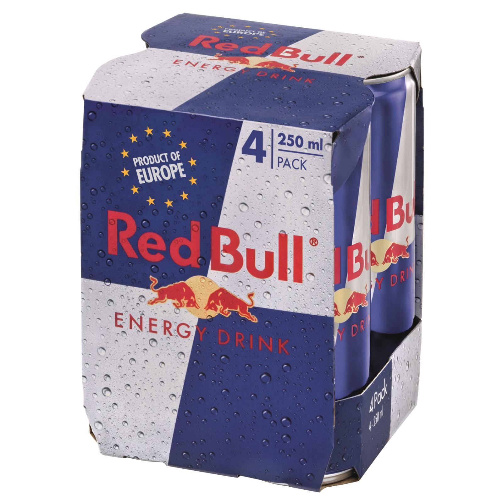 RED BULL Energy Drink Regular 4sX250ml