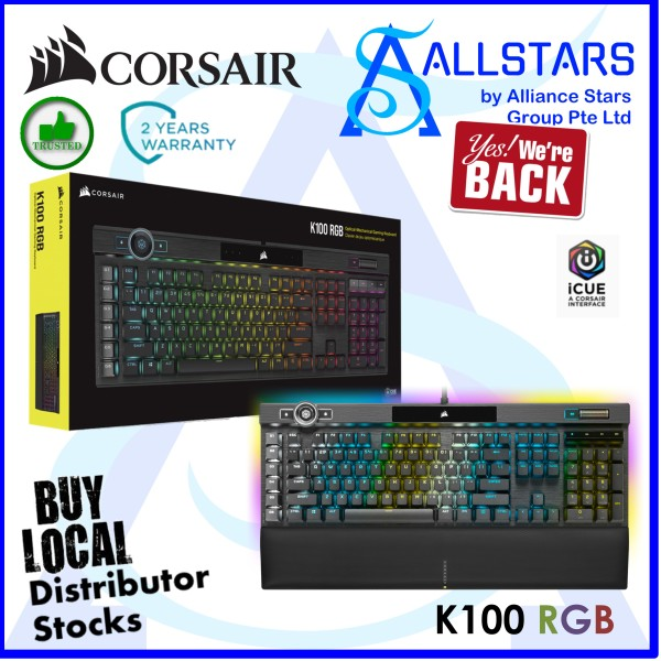 (ALLSTARS: We Are Back Promo) CORSAIR K100 RGB Optical-Mechanical Gaming Keyboard (CH-912A01A-NA) (Warranty 2years with Convergent) Singapore