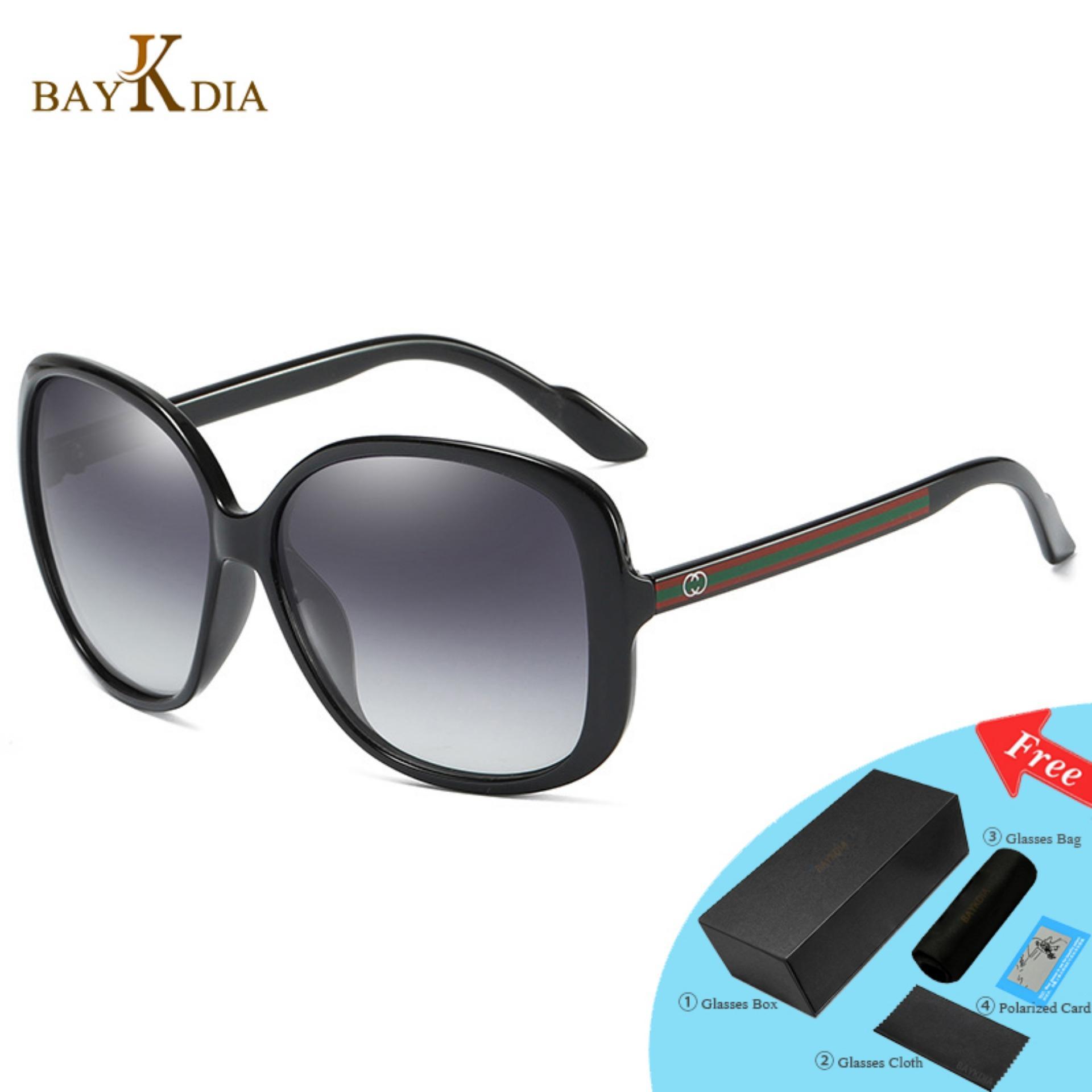 5df99ba6fc707 VEITHDIA 3157 Fashion Women s Brand Designer Sunglasses Polarized Metal  UV400 Black frame grey lens for Women