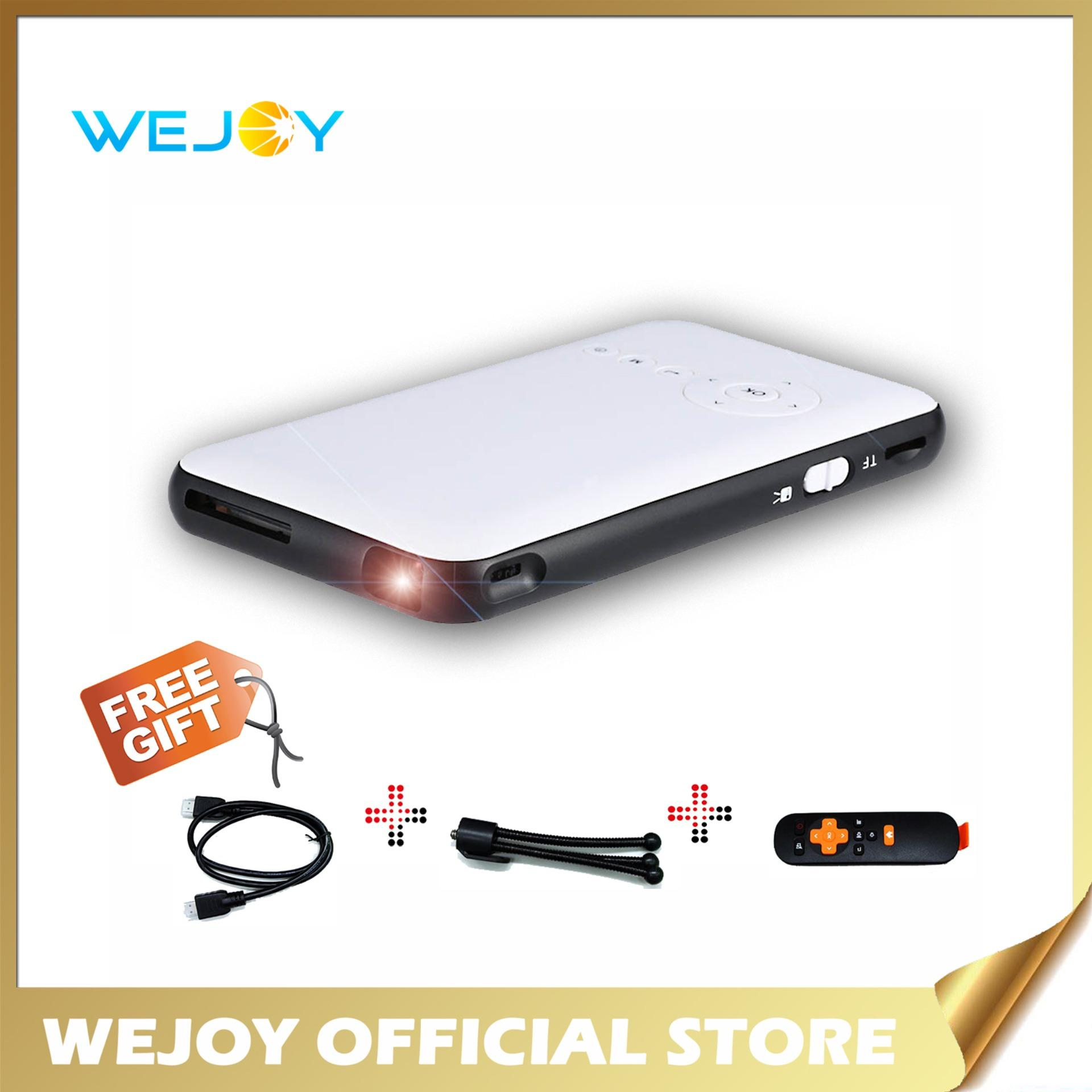4c5bf20352c41e Wejoy DL-S6 Portable Handy LED 1080p Full HD Mini Projector Mobile Cinema  with Android