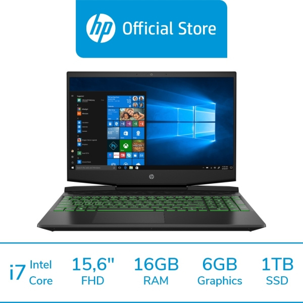 HP Pavilion Gaming Laptop 15-dk1155TX / Intel® Core™ i7-10750H / 16GB RAM / 1TB SSD + 32GB 3D Xpoint SSD / Win 10 / Gaming / 144 Hz Refresh Rate / 	NVIDIA® GeForce RTX™ 2060 with Max-Q design / ADP Coverage