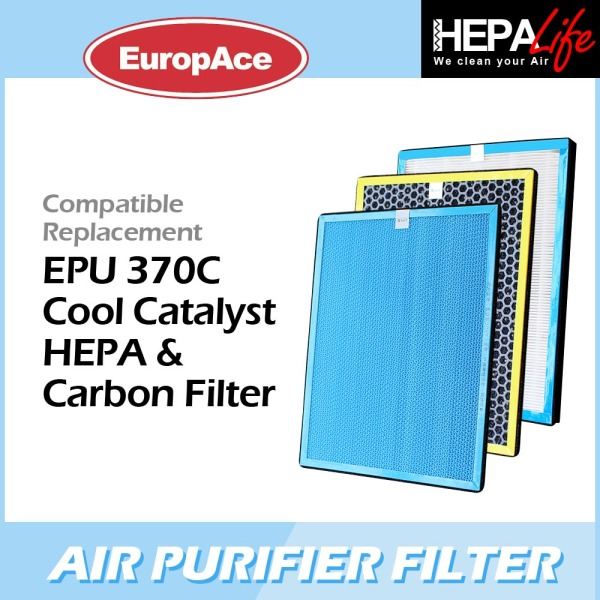 EUROPACE EPU 370C Compatible Hepa and Cool Catalyst and Carbon Filter - Hepalife Singapore
