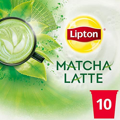 Lipton 1-Step Tea K-Cups Matcha Latte With 100% Rainforest Alliance Certified Green Tea 10 Count..