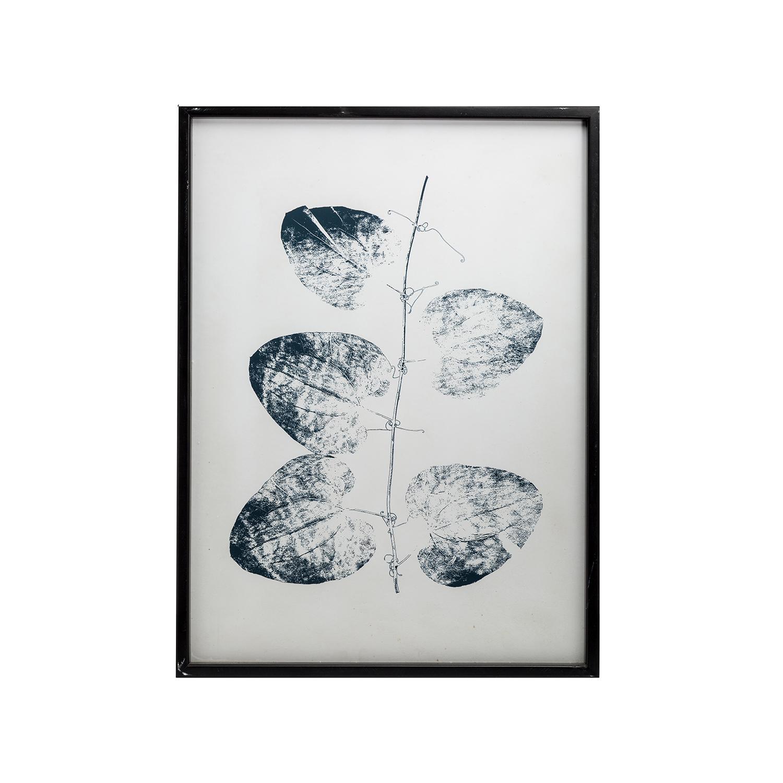 Fir Framed Wall Art w/ Leaves Pattern