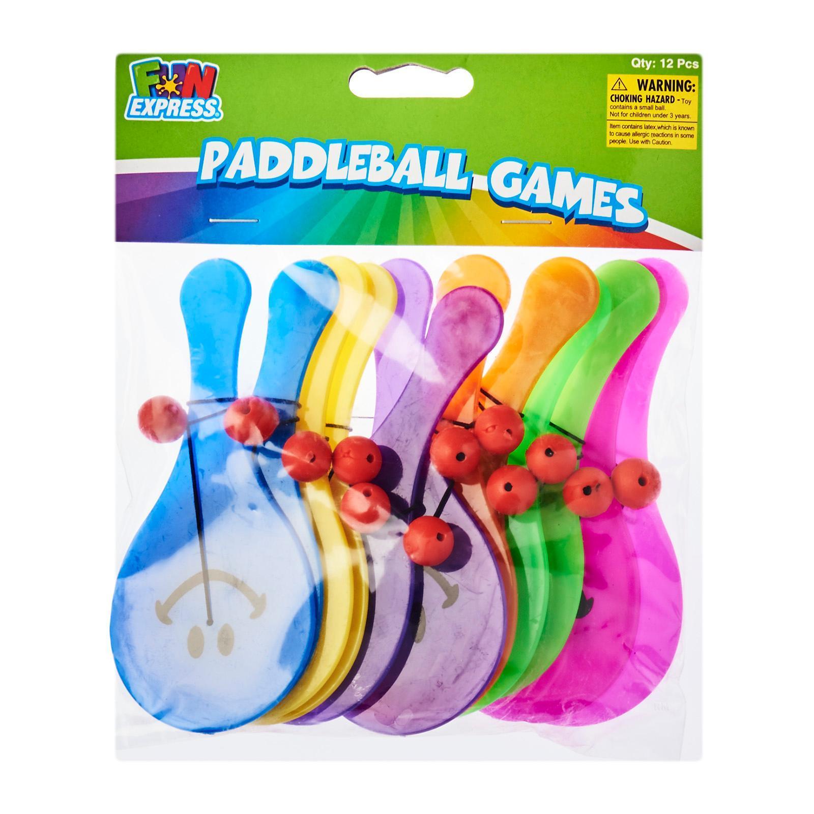Fun Express Plastic Mini Smile Face Paddleball Games