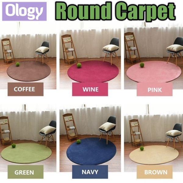 Round Japanese Carpet 100*100cm Living Room Home House Thick Floor Mat Playmat Flannel Fleece Coral Mats