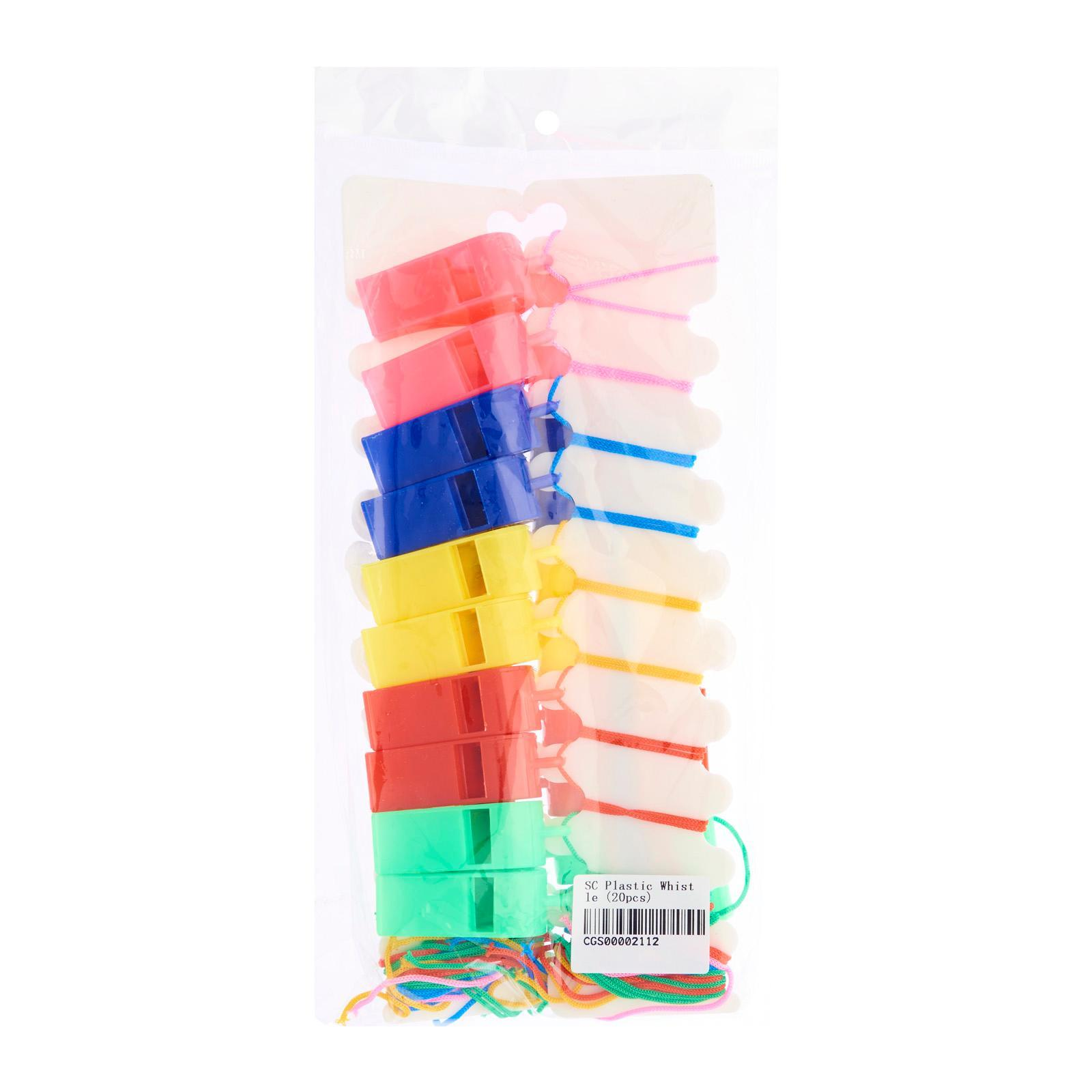 CGS Solid Color Plastic Whistle (Assorted) (20Pcs) - Party Favor