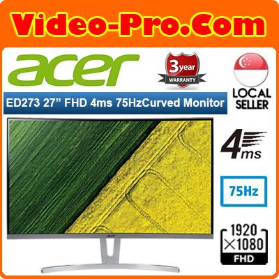 Acer ED273 27Inch Full HD Curve Gaming Monitor with 75Hz Refresh Rate