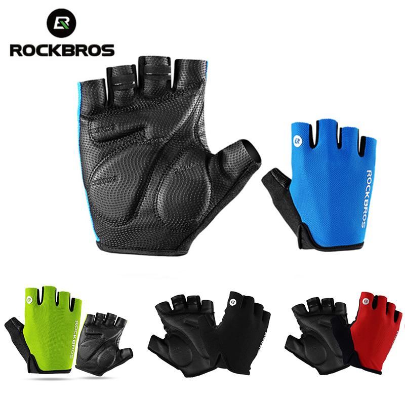 ROCKBROS Cycling Bike Gloves Summer Half Finger Shockproof Breathable MTB  Mountain Bicycle Sports Gloves Men Women Cycling Equipment - intl