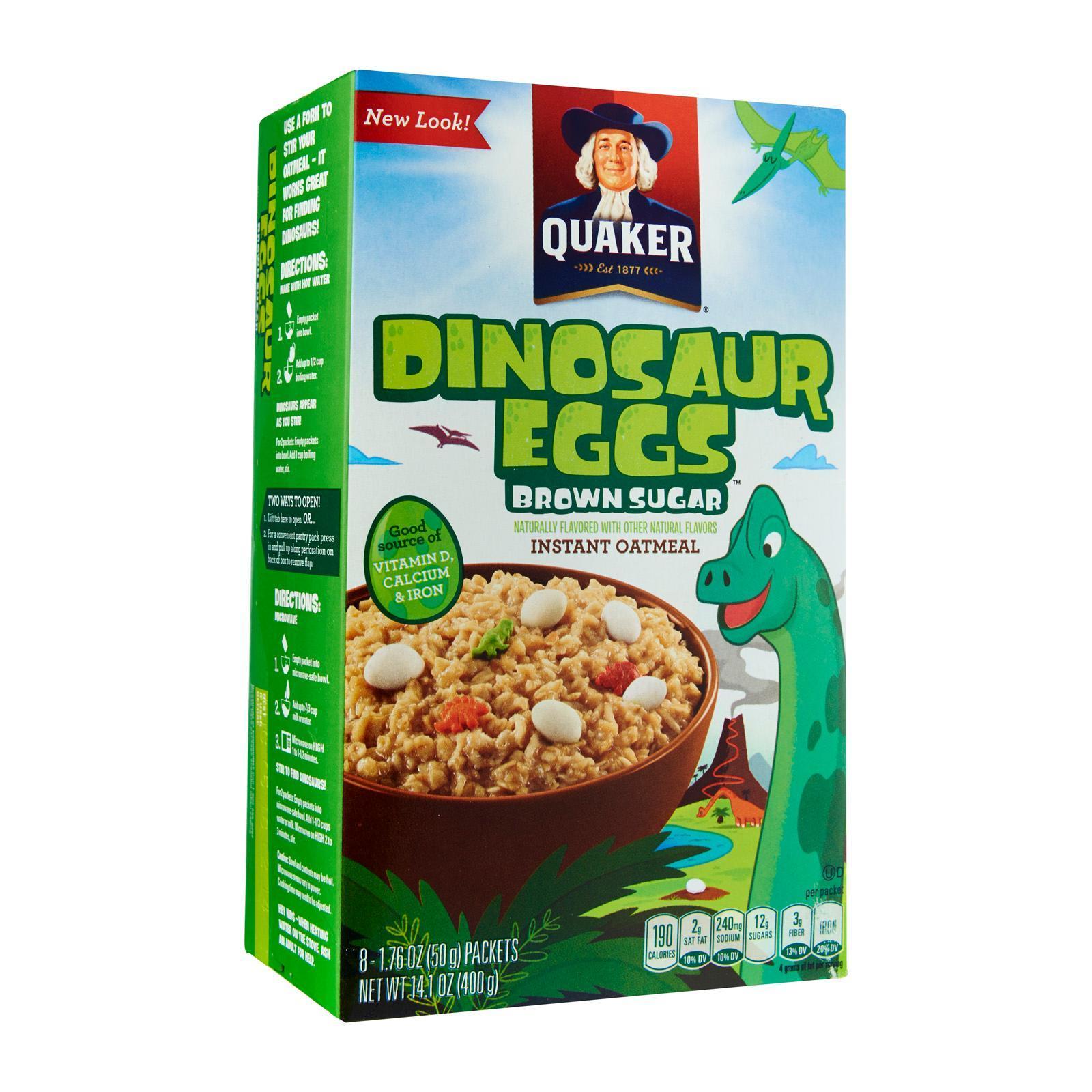 Quaker Instant Oatmeal with Brown Sugar Dinosaur Eggs