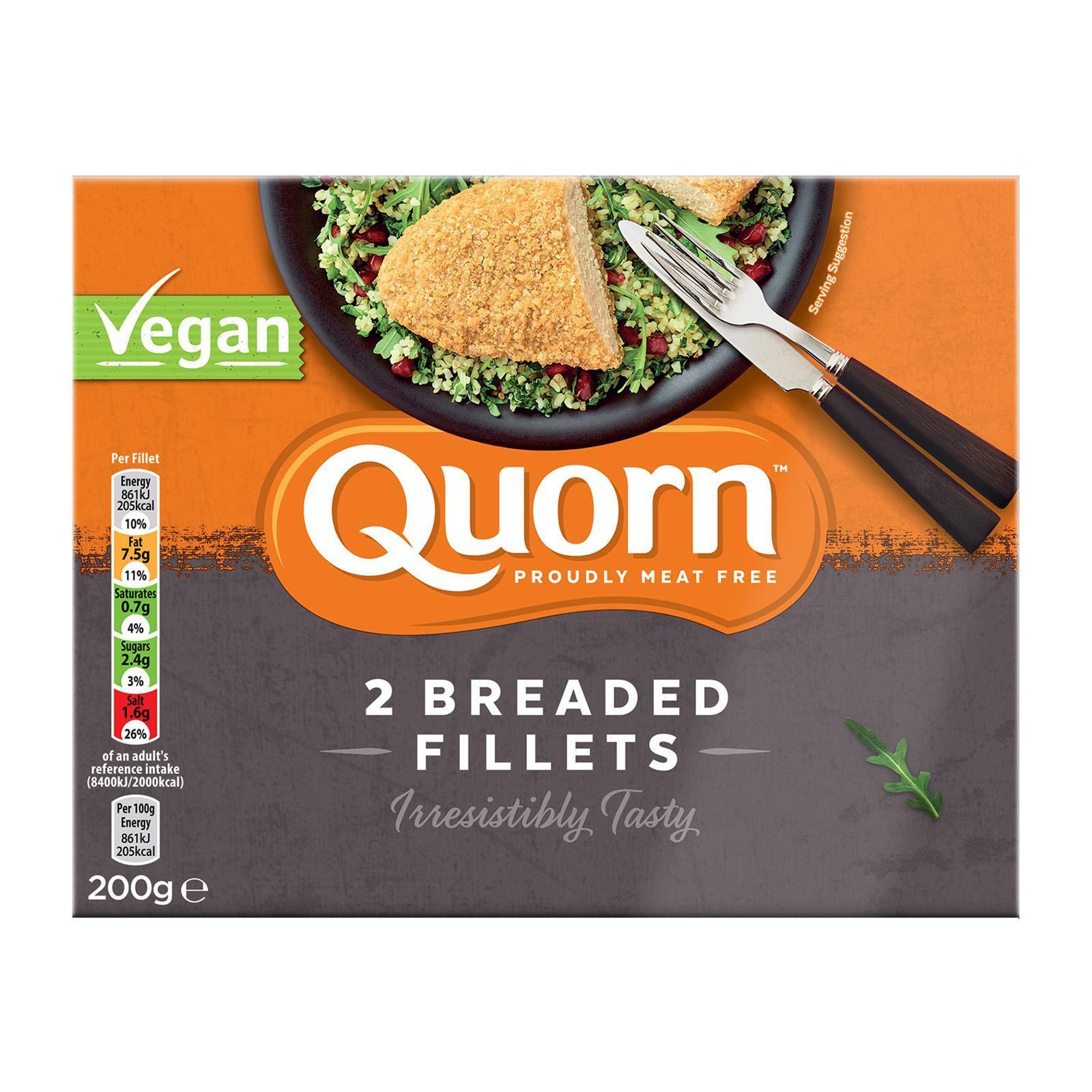 Quorn Vegan Breaded Fillet - Frozen By Redmart.