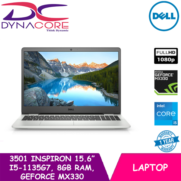 DYNACORE - DELL 3501 INSPIRON 15 (i5-1135G7 | 8GB RAM | 512GB M.2 NVMe PCIe SSD | NVIDIA GEFORCE MX330-2GB | 15.6 FHD WIN10-Home) 1YEAR ON-SITE WARRANTY