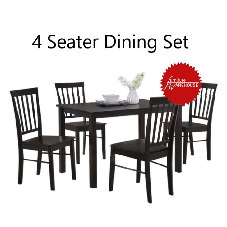 JOEY 4 SEATER WOODEN DINING SET