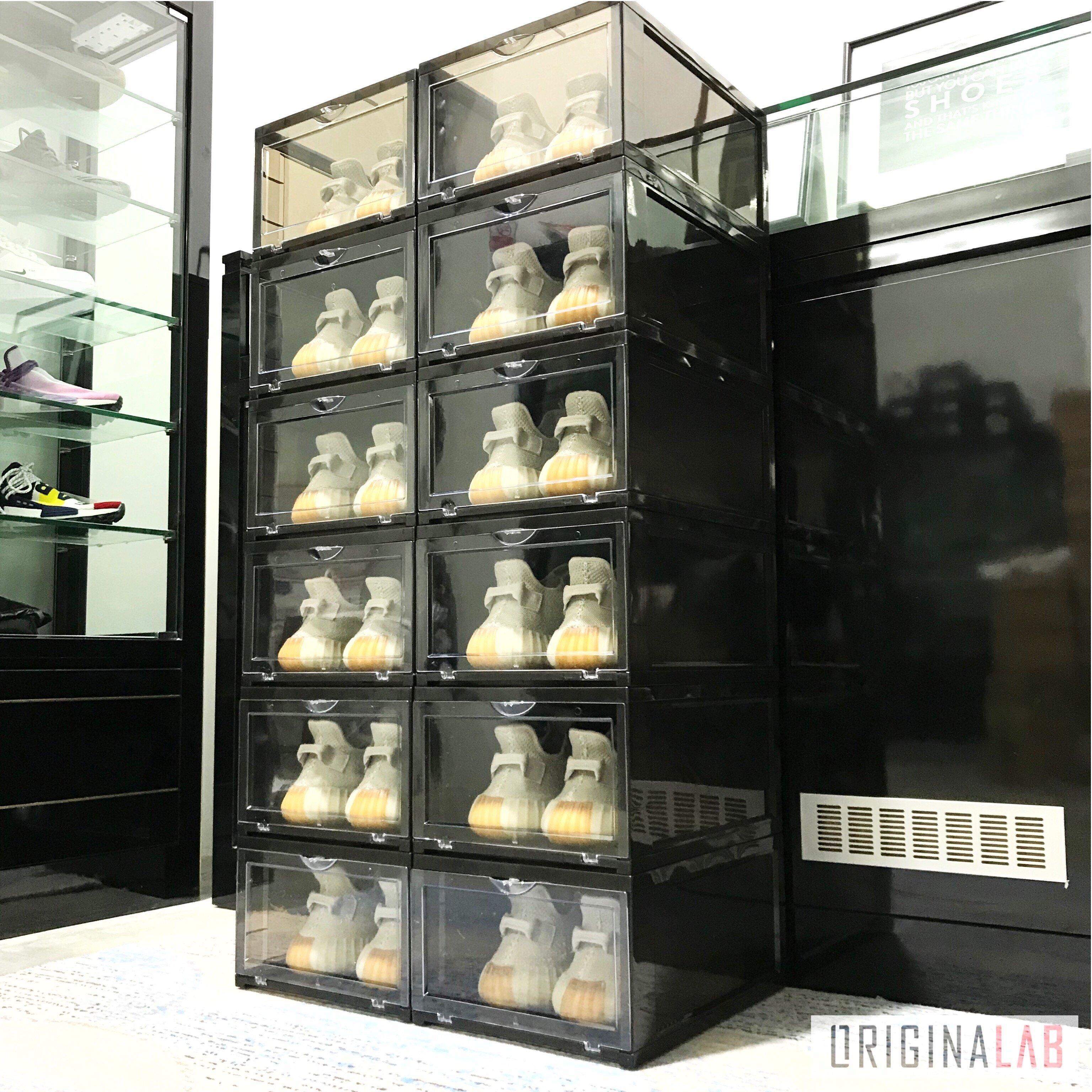 14 BOXES - ORIGINALAB Premium Stackable Shoe Box Black HOT SALE