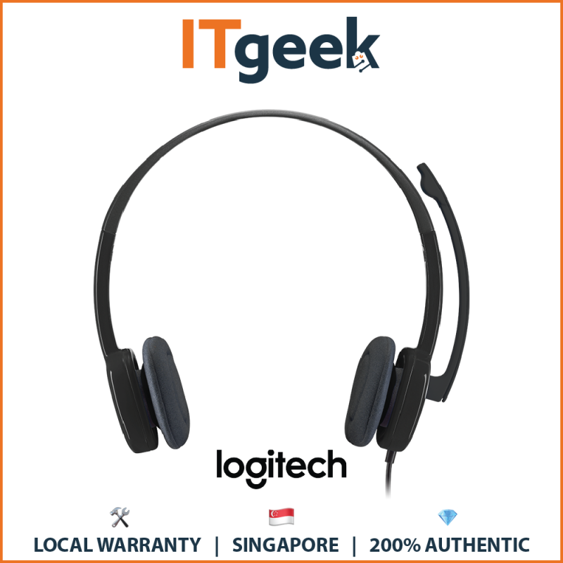 (Express Delivery) Logitech H151 Stereo Headset with Noise Cancellation (3.5MM Jack) Singapore
