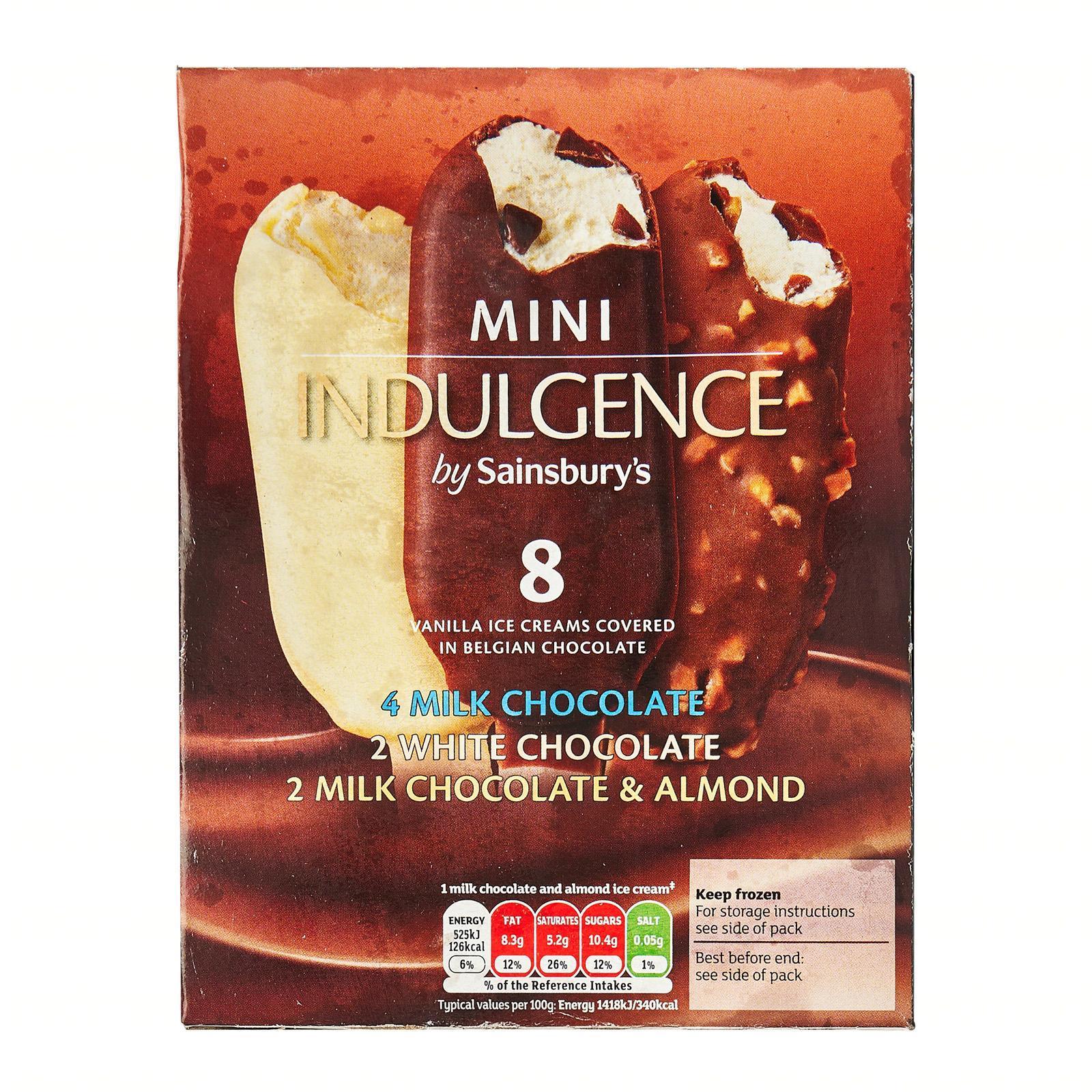 Sainsbury's Mini Indulgence Ice Cream Sticks - Frozen