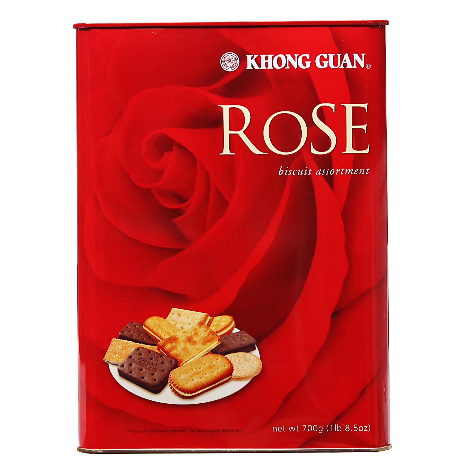 KHONG GUAN Rose Tin Assorted Biscuits 700g