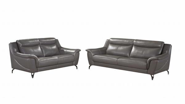 Gemini SFLP889 WK 2 Seaters Half Leather Sofa Set
