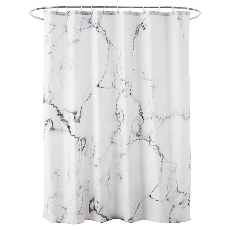 180X180Cm 3D Fashion Marble Printed Shower Curtain Bathroom Fabric Shower  Curtain Home Decoration Waterproof
