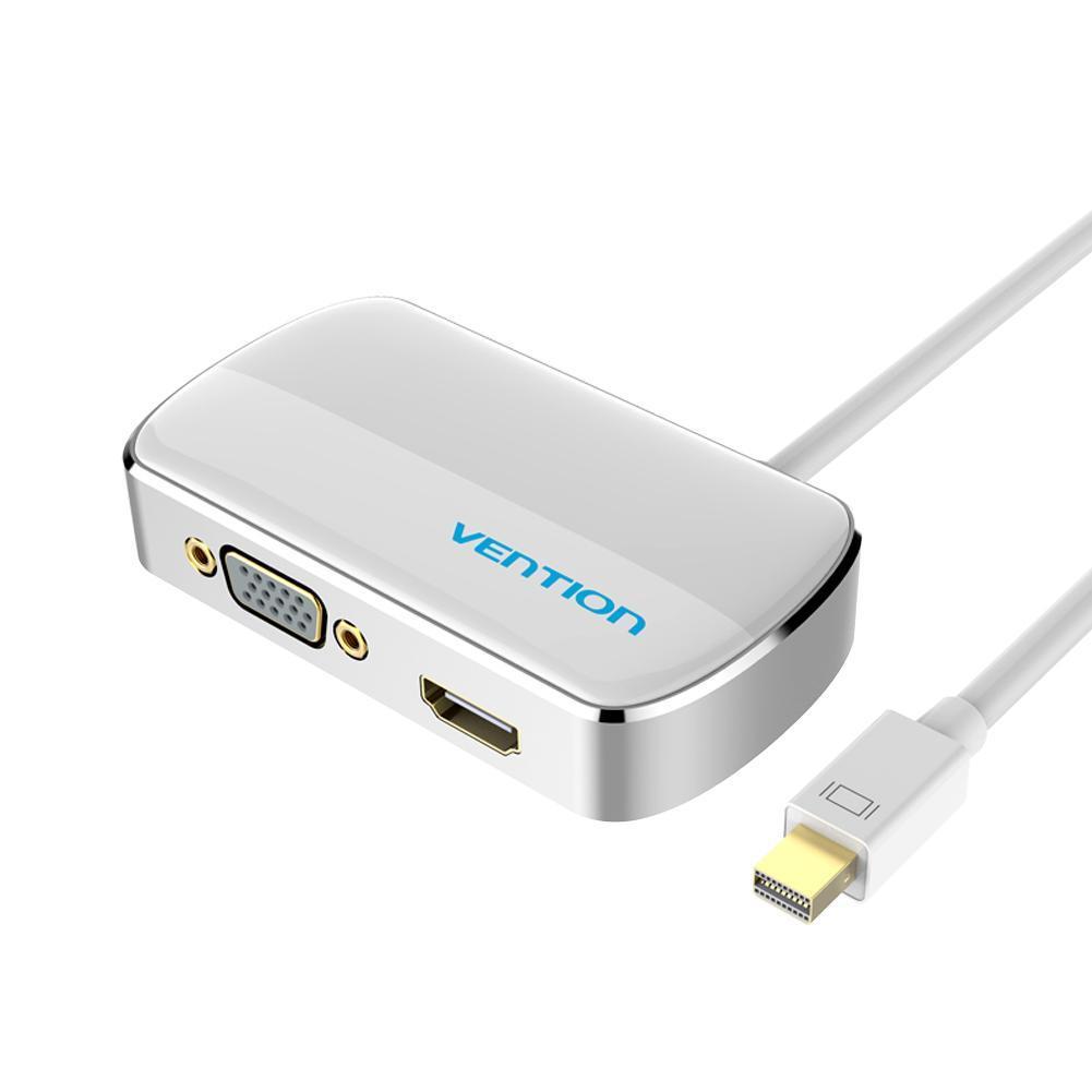 Chính Hãng Vention 4 K 2 Trong 1 Mini Displayport DP Sang HDMI VGA Adapter Cáp ...