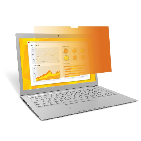 3M™ Gold Privacy Filter for 15.6-inch Laptop with COMPLY™ Attachment System (GF156W9B) - 345 mm (W) x 194 mm (H)