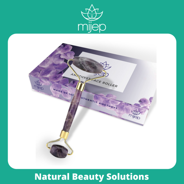 Buy Amethyst Face Roller - Stunning Premium Quality Natural Stone Facial Tool. Traditional Crystal Facial Roller (Jade Roller Alternative) Singapore