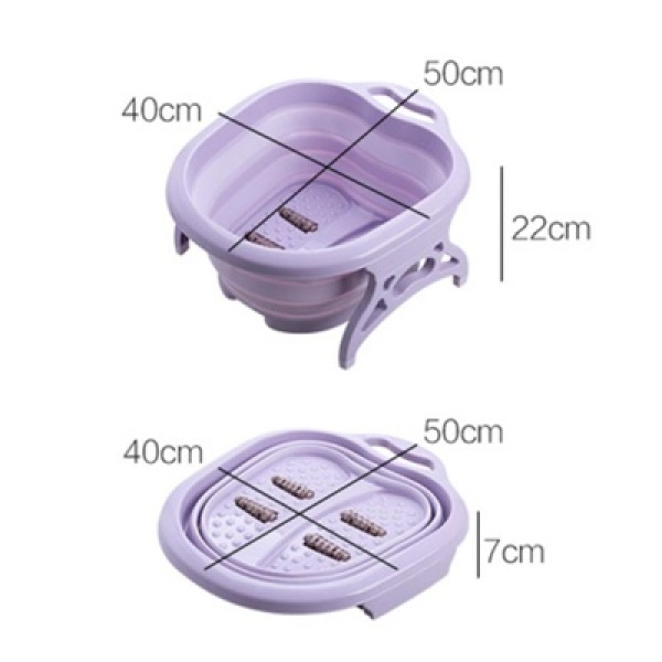 Buy Singbuy Foot massage bucket foot SPA Chinese health care Foot bath Foldable massage basin Portable (Purple) Singapore