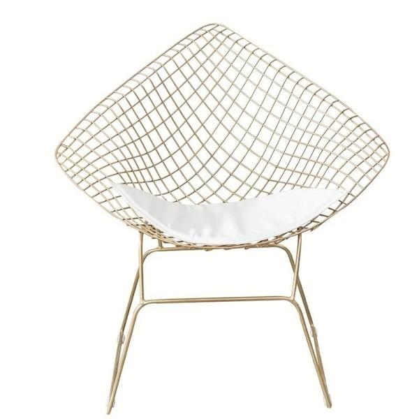 SANCTUARY Modern Wire Frame Armchair