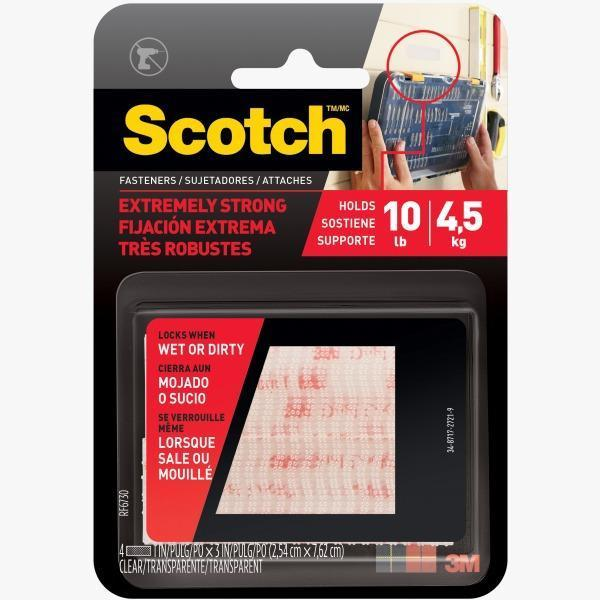 3M Scotch™ Extremely Strong Indoor / Outdoor Fasteners - Clear