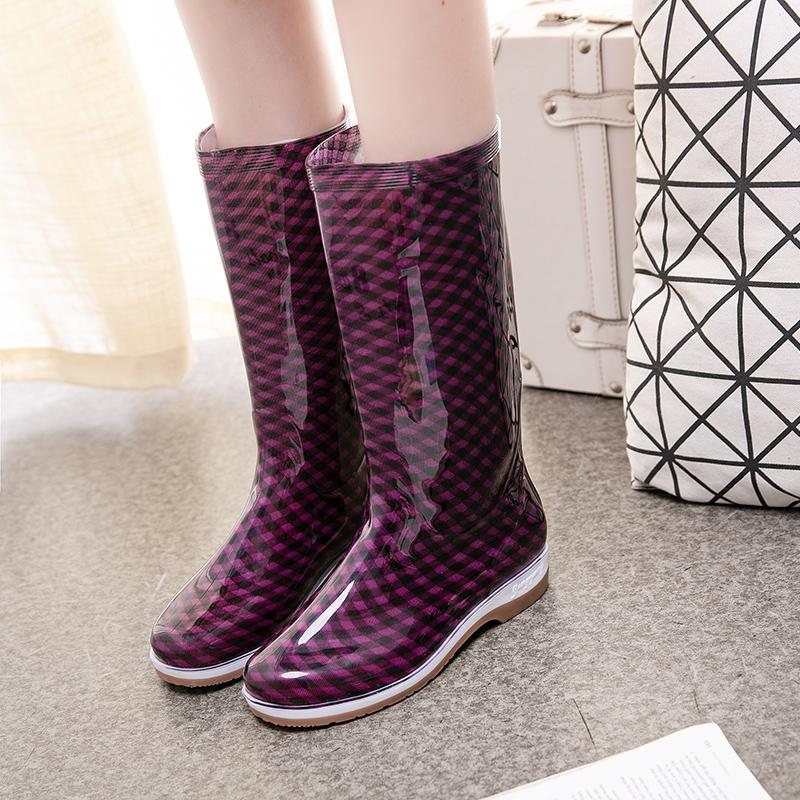 Rain Boots Female Winter Boots\n Plus Cotton Rain Boots Adult Hose Warm Rain Shoes Anti-Slip Tube Rubber Shoes Fashion Kitchen Vehicle Cleaning By Taobao Collection.
