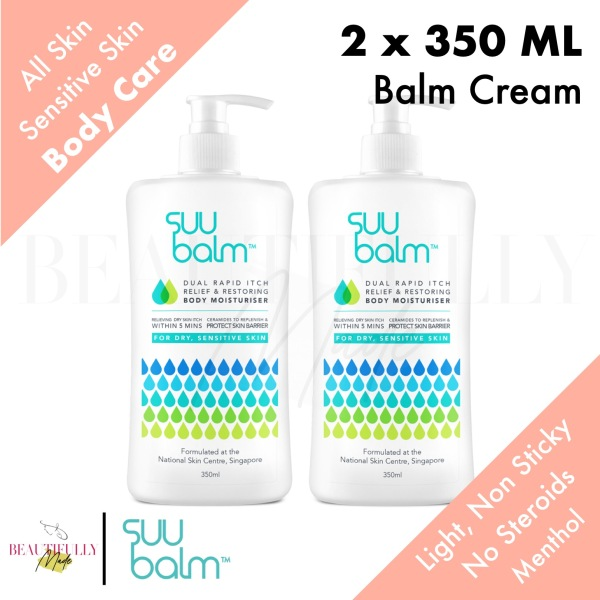 Buy [Bundle of 2] Suu Balm Dual Rapid Itch Relieving & Restoring Moisturiser Pump Bottle 2 x 350ml - Suubalm Body Lotion Cream (Expiry 2023) Singapore