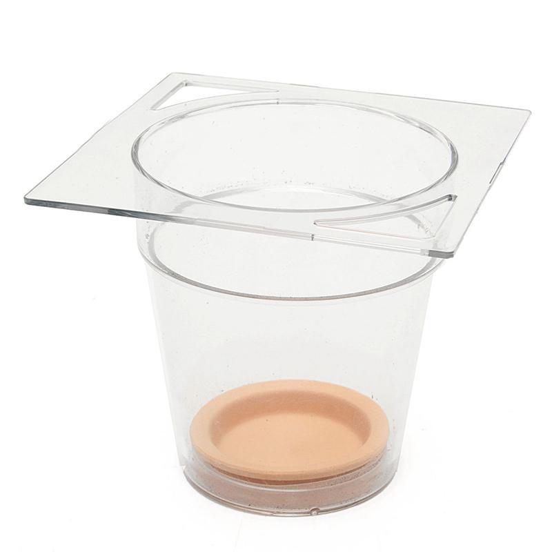 Creative Transparent Flower Pot Automatic Water Absorption Pot Automatic Irrigation Hydroponic Plastic Desktop Square Fish Tank-S