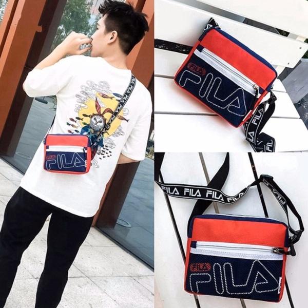 READYSTOCK Fila Canvas Classic Sling Bags Fila Casual Zipper Chest Bag