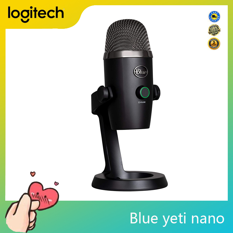 Logitech Blue Yeti Nano Original Nano Premium Streaming Microphone Condenser Microphone For PC Laptop Computer Singapore