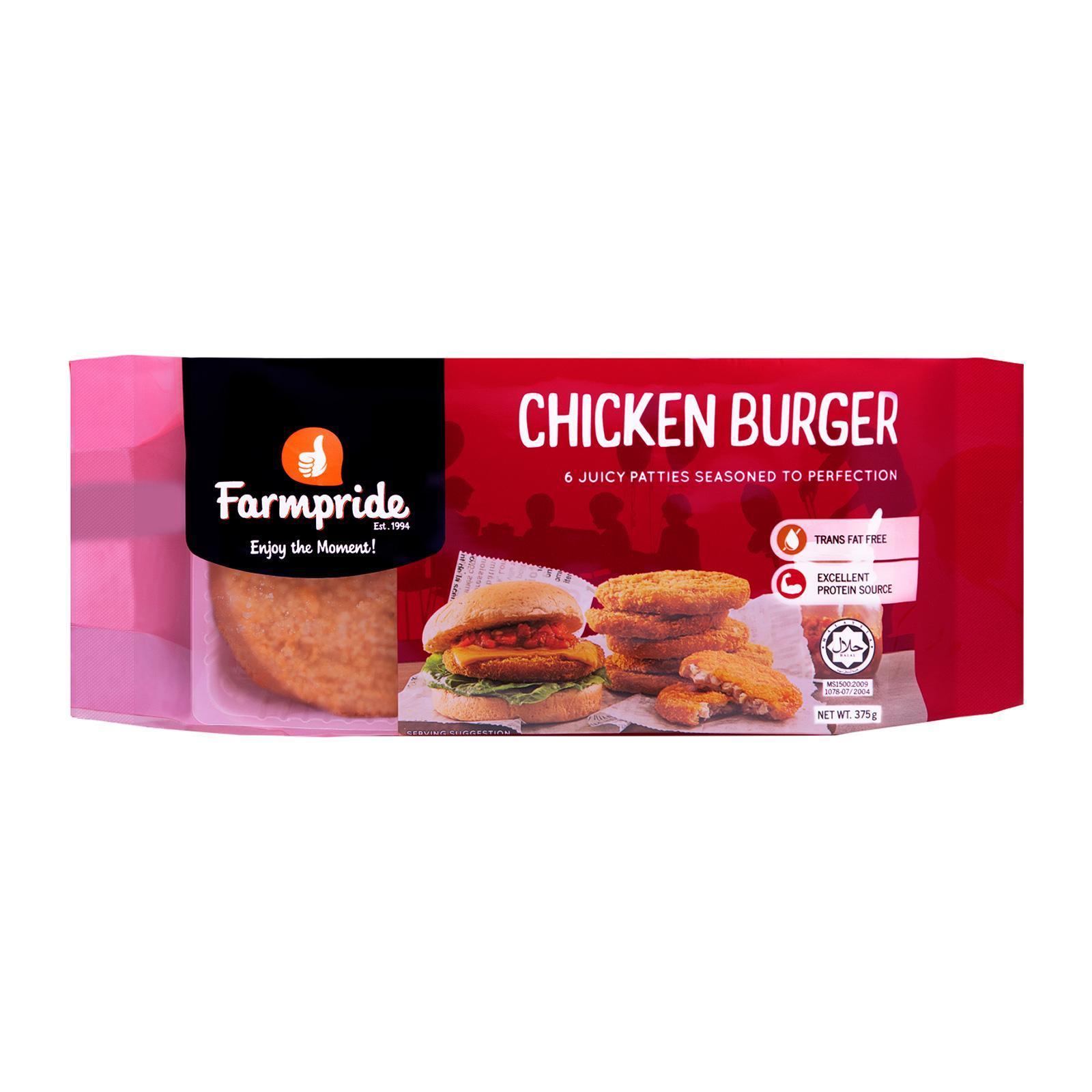 Farmpride Breaded Chicken Burger - Frozen
