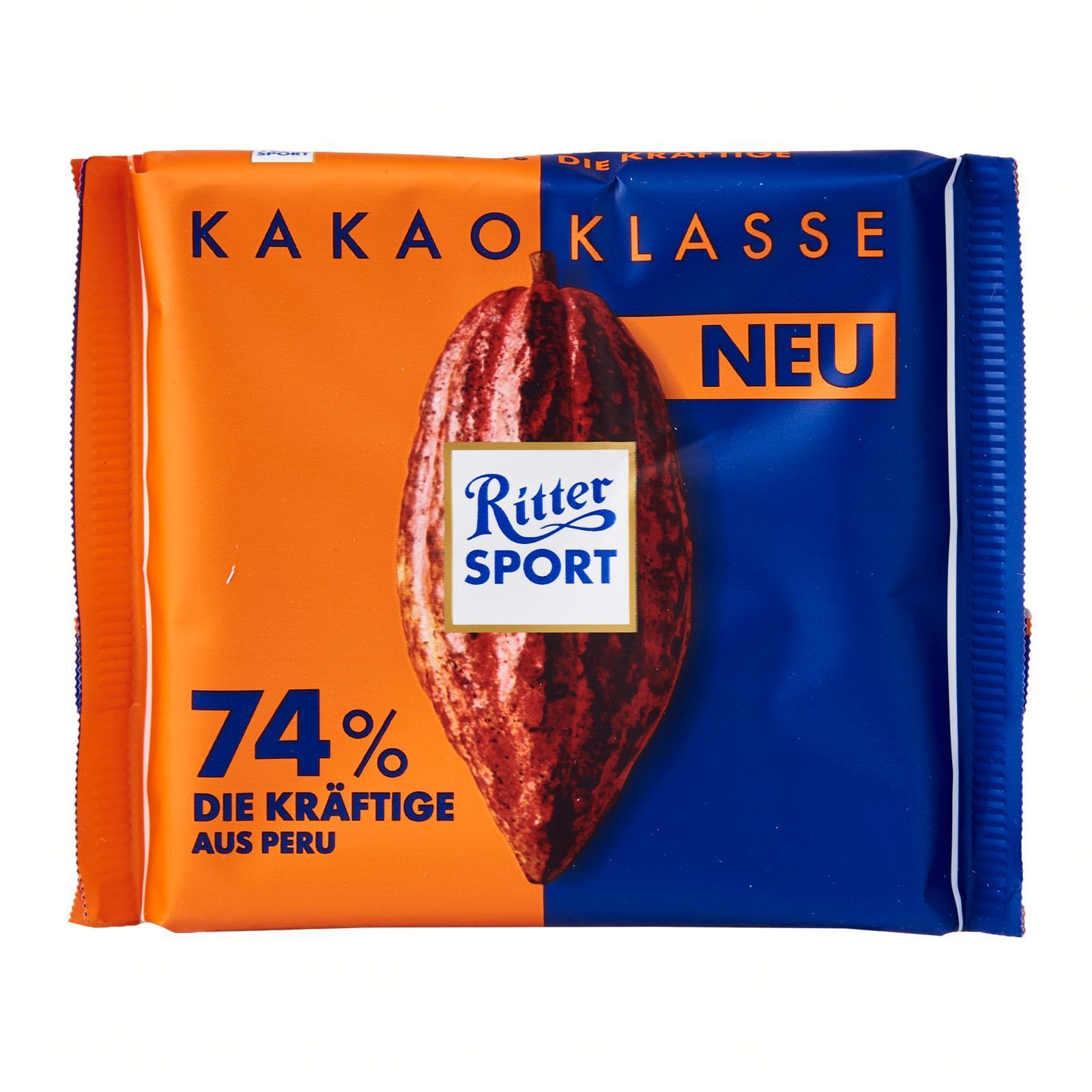 Ritter Sport Cacao 74 - percent Peru